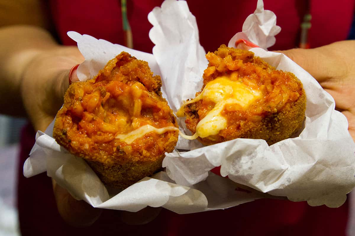Suppli king of street food in Rome