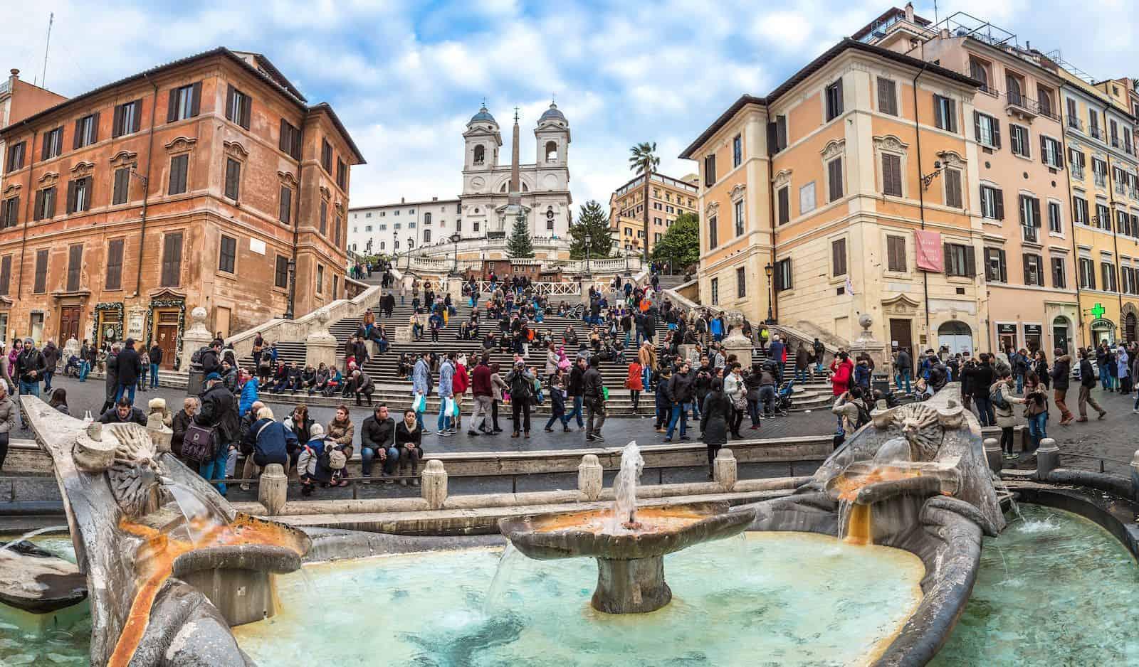 The Spanish Steps (Italian: Scalinata di Trinità dei Monti)