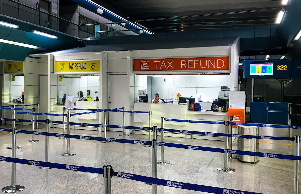 Tax Refund Rome Airport
