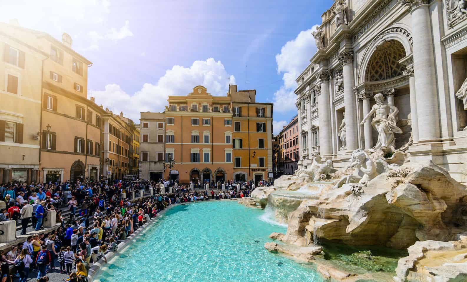 The Trevi Fountain (Italian: Fontana di Trevi)