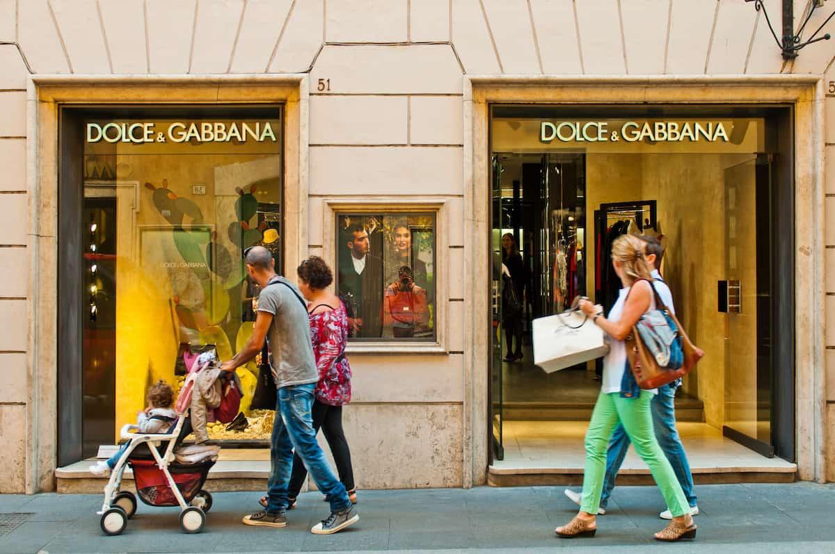 Dolce & Gabanna show window at Via dei Condotti in Rome