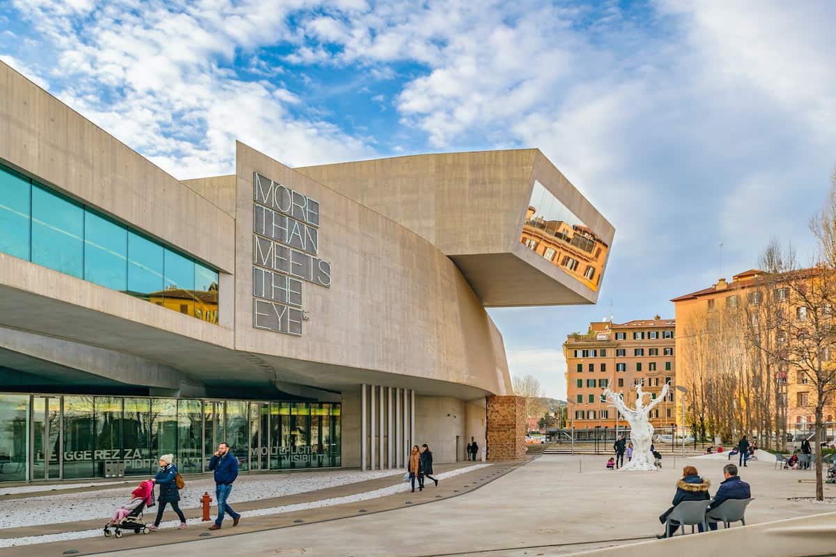 Exterior view of maxxi building