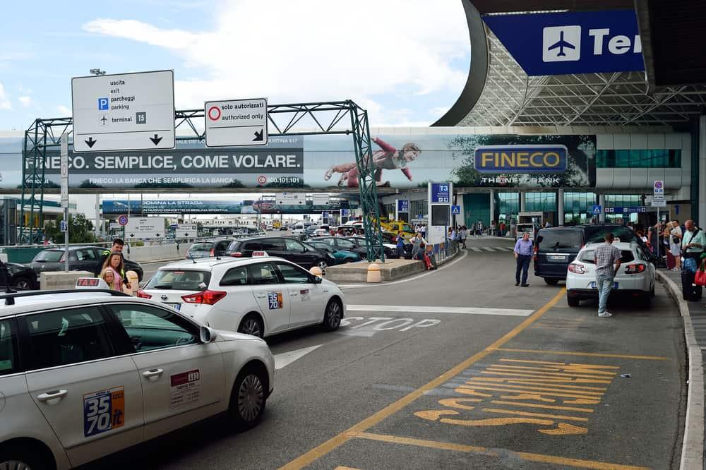 Rome Airport Fiumicino Terminal outdoor