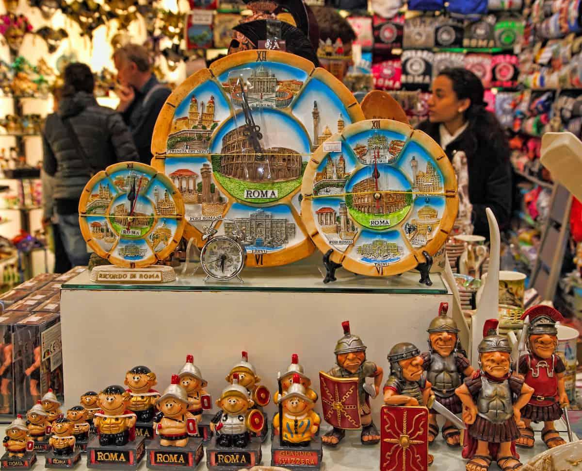 Souvenir Shop in Rome